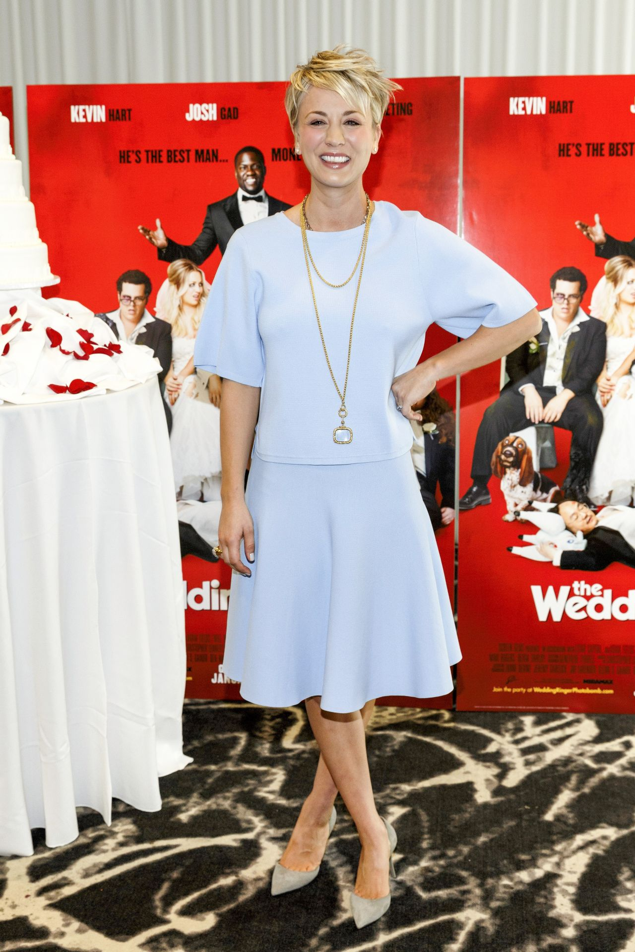 Kaley Cuoco at 'The Wedding Ringer' Photocall à Los Angeles