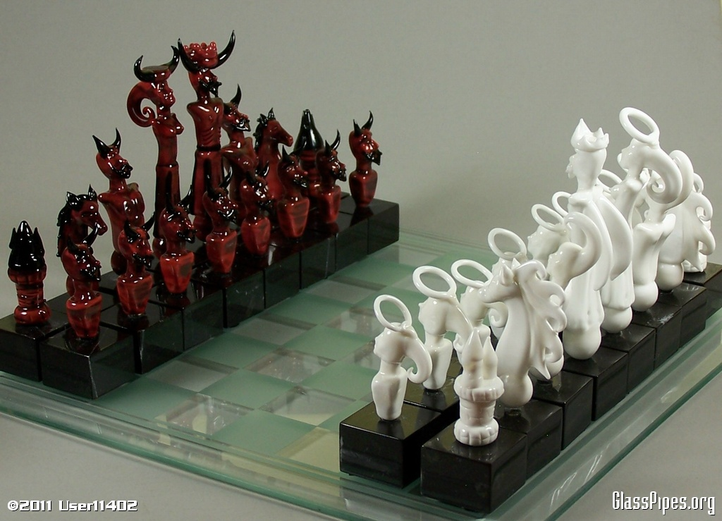 gallery devil  angel playing chess