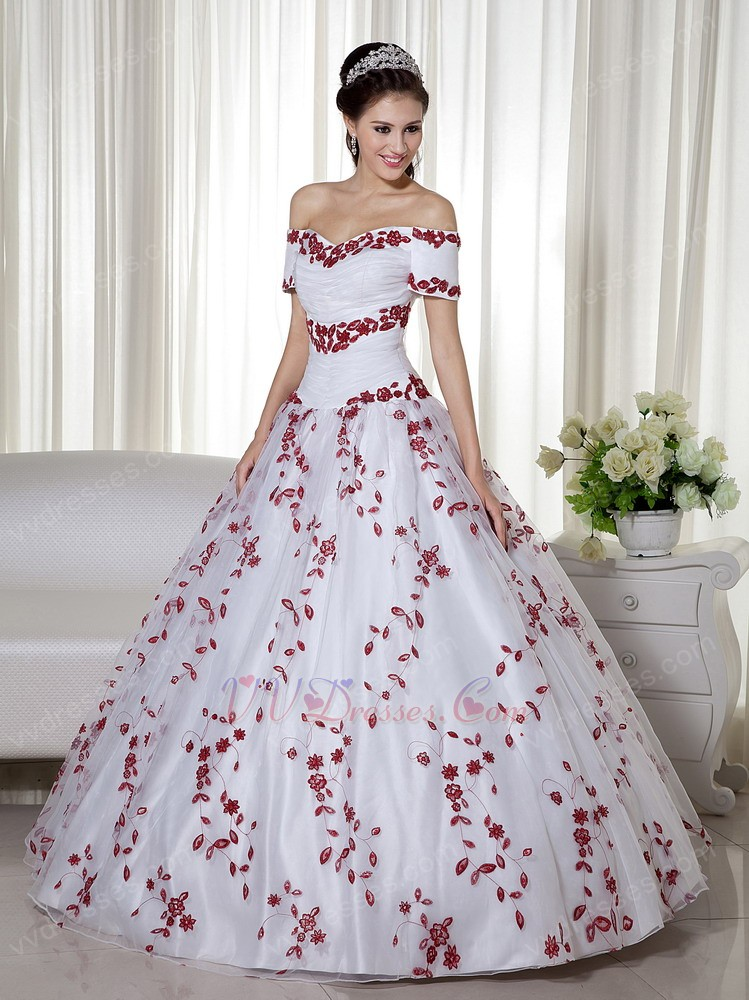 Red And White Quinceanera Dresses 2013